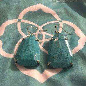 Like new Kendra Scott turquoise earrings